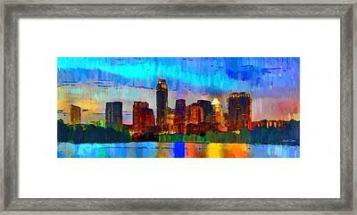 Austin Texas Skyline 200 - Da Framed Print