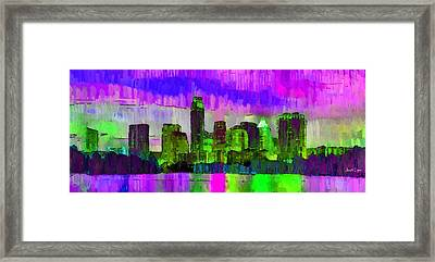 Austin Texas Skyline 205 - Pa Framed Print