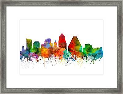 Austin Texas Skyline 21 Framed Print by Aged Pixel