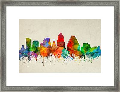 Austin Texas Skyline 22 Framed Print