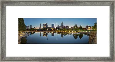 Austin Texas Skyline Panorama Before Sunrise 1 Framed Print by Rob Greebon