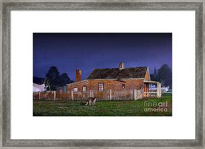 Australia By Night Framed Print by Russ Brown