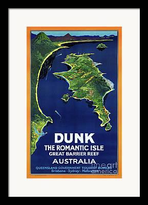 Dunk Island Mixed Media Framed Prints
