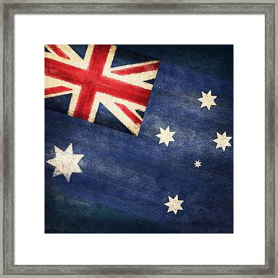 Australia  Flag Framed Print by Setsiri Silapasuwanchai