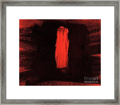 Australian Aborigine Man 2 Framed Print by Richard W Linford