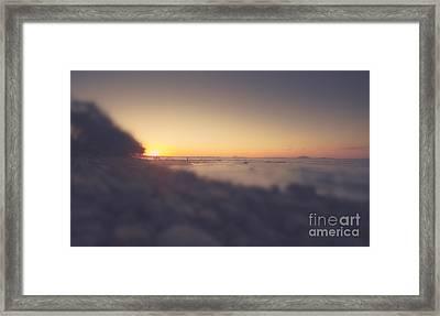 Australian Beach Tilt Shift Landscape Framed Print