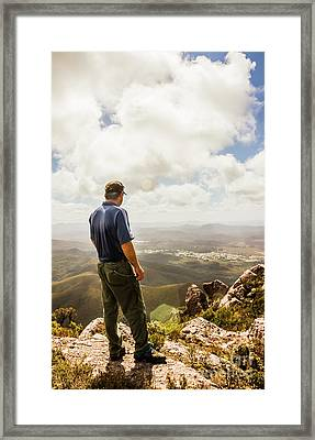 Australian Explorer Sightseeing Mt Zeehan Framed Print by Jorgo Photography - Wall Art Gallery