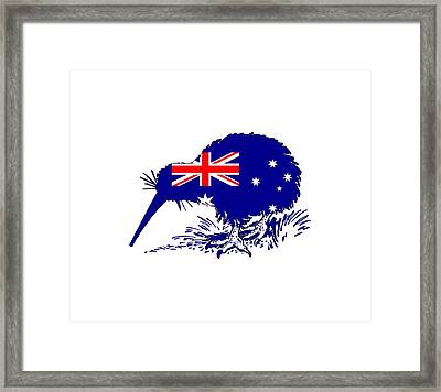 Australian Flag - Kiwi Bird Framed Print