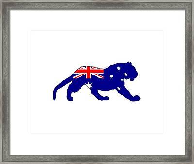 Australian Flag - Tiger Framed Print