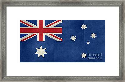 Australian Flag Vintage Retro Style Framed Print by Bruce Stanfield