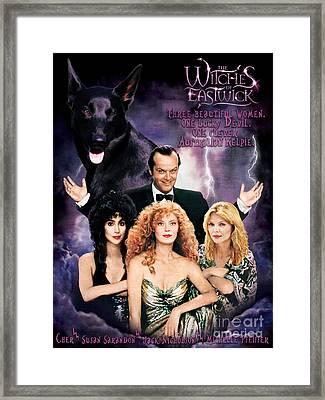 Australian Kelpie - The Witches Of Eastwick Movie Poster Framed Print by Sandra Sij