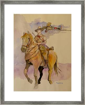 Australian Light Horse Regiment. Framed Print by Ray Agius