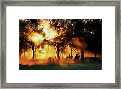 Australian Morning At Sunrise Framed Print by Georgiana Romanovna