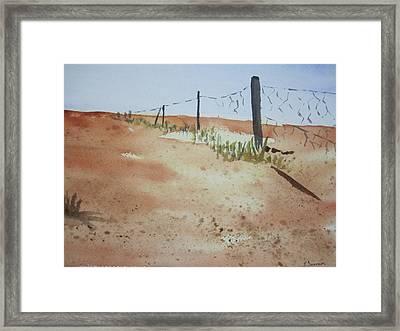 Australian Outback Track Framed Print