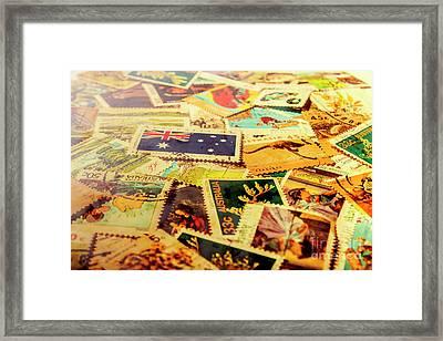 Australian Postal Background Framed Print