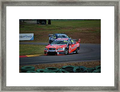 Australian Racing Car Driver Craig Lowndes Framed Print by Cheryl Hall