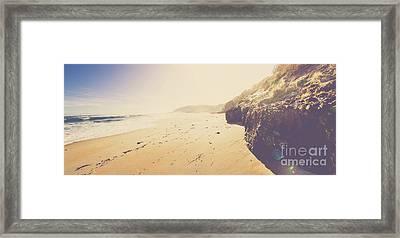 Australian Retro Beach Paradise  Framed Print