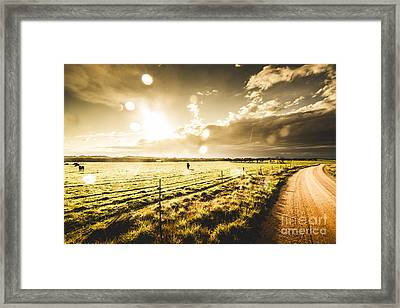 Australian Rural Dirt Road  Framed Print