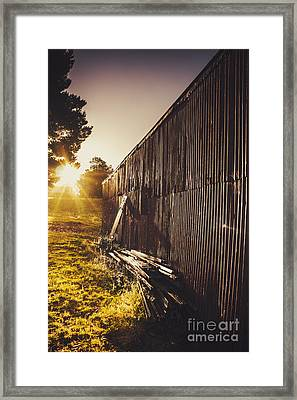 Australian Rural Farm Shed In Waratah Tasmania Framed Print