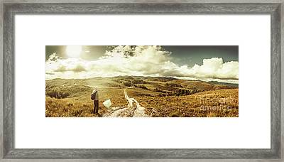 Australian Rural Panoramic Landscape Framed Print