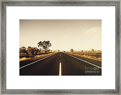 Australian Rural Road Framed Print by Jorgo Photography - Wall Art Gallery