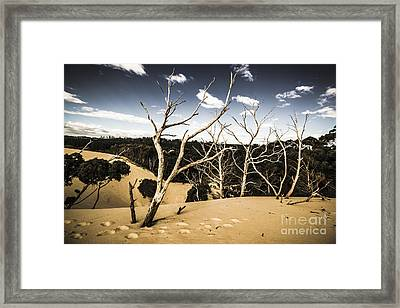 Australian Sand Plateau Framed Print