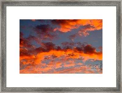 Australian Sunset Framed Print by Louise Heusinkveld