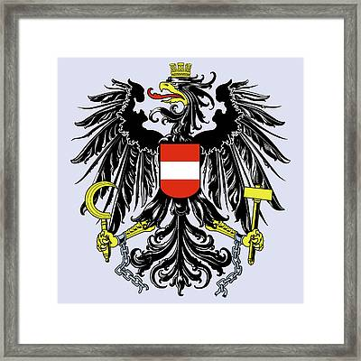 Framed Print featuring the drawing Austria Coat Of Arms by Movie Poster Prints