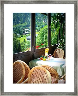 Austrian Cafe Framed Print by Carol Groenen