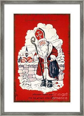 Austrian Christmas Card Framed Print by Granger