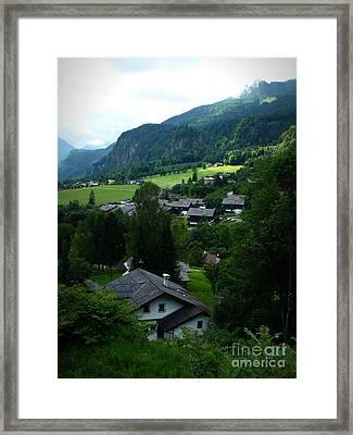 Austrian Landscape Framed Print by Carol Groenen
