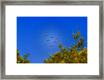 Australian Roulettes Formation Over North Head Sydney Framed Print