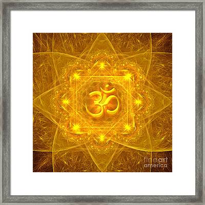Authentic Om  Framed Print