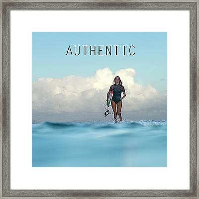 Authentic Framed Print