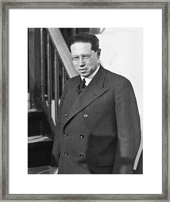 Author Leon Feuchtwanger Framed Print by Underwood Archives