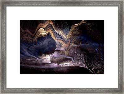Authoring The Unpredictable Framed Print by Casey Kotas