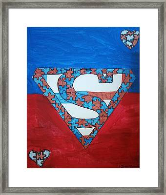 Autism Superpower Framed Print