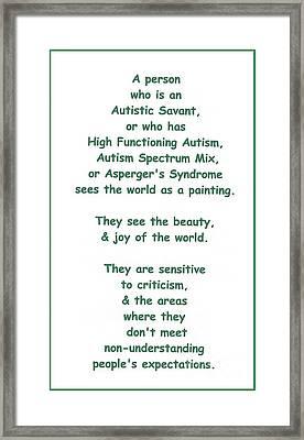 Autism Torture Framed Print