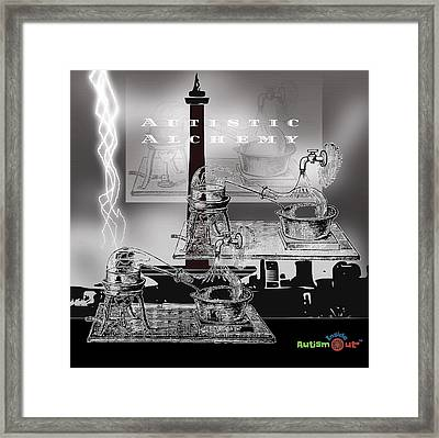Autistic Alchemy Framed Print by Steven Brier