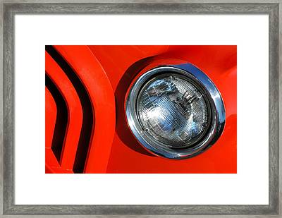 Auto Abstract Framed Print by Dan Holm