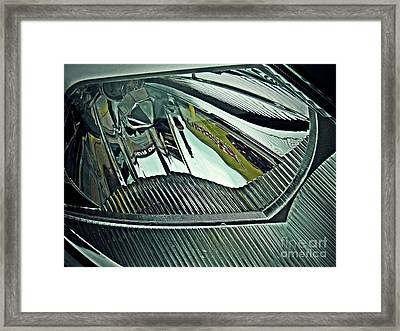 Auto Headlight 176 Framed Print by Sarah Loft