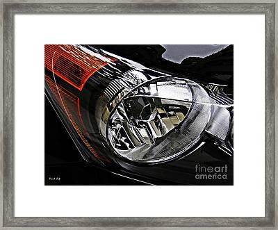 Auto Headlight 177 Framed Print by Sarah Loft