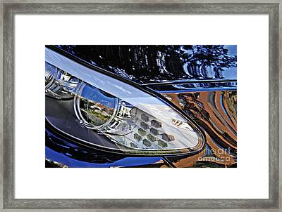 Auto Headlight 180 Framed Print by Sarah Loft