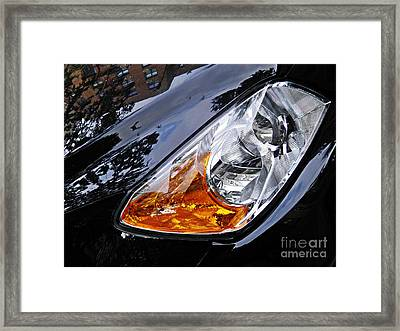 Auto Headlight 183 Framed Print by Sarah Loft