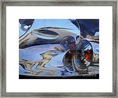 Auto Headlight 184 Framed Print by Sarah Loft