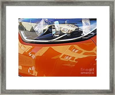 Auto Headlight 186 Framed Print by Sarah Loft