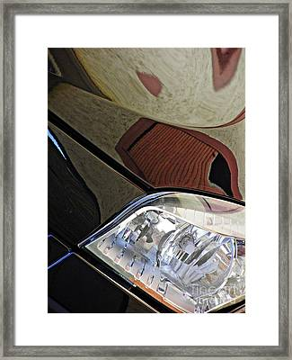 Auto Headlight 187 Framed Print by Sarah Loft