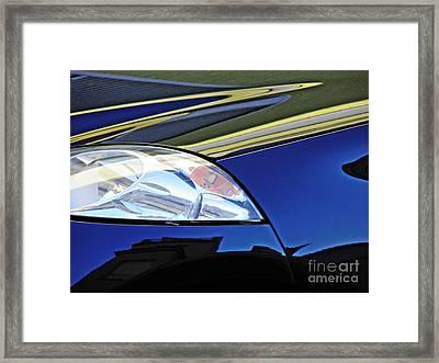 Auto Headlight 190 Framed Print by Sarah Loft