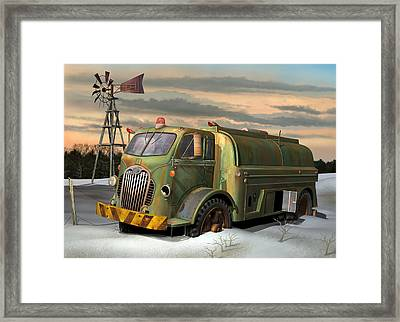 Autocar Waterwagon Framed Print by Stuart Swartz