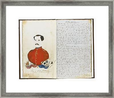 Autograph Manuscript Memoir Framed Print by MotionAge Designs